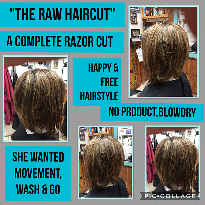 The Raw Haircut - A Complete Razor Cut - Happy & Free Hairstyle with no product, blowdry